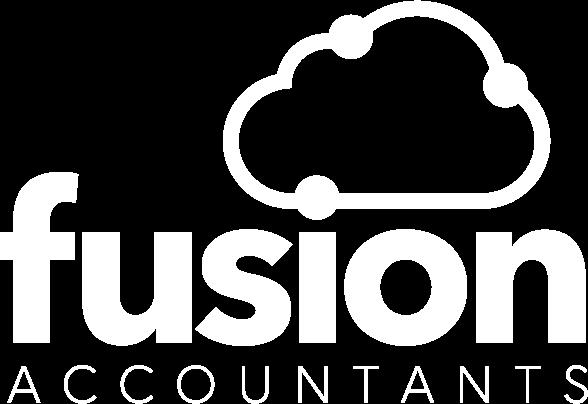 Fusion logo white