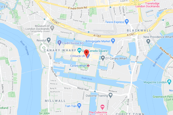 East London office map