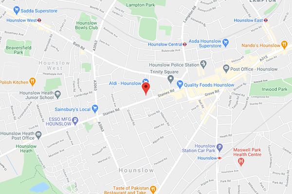 Hounslow office map