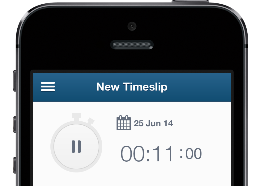Timetracking mobile timer