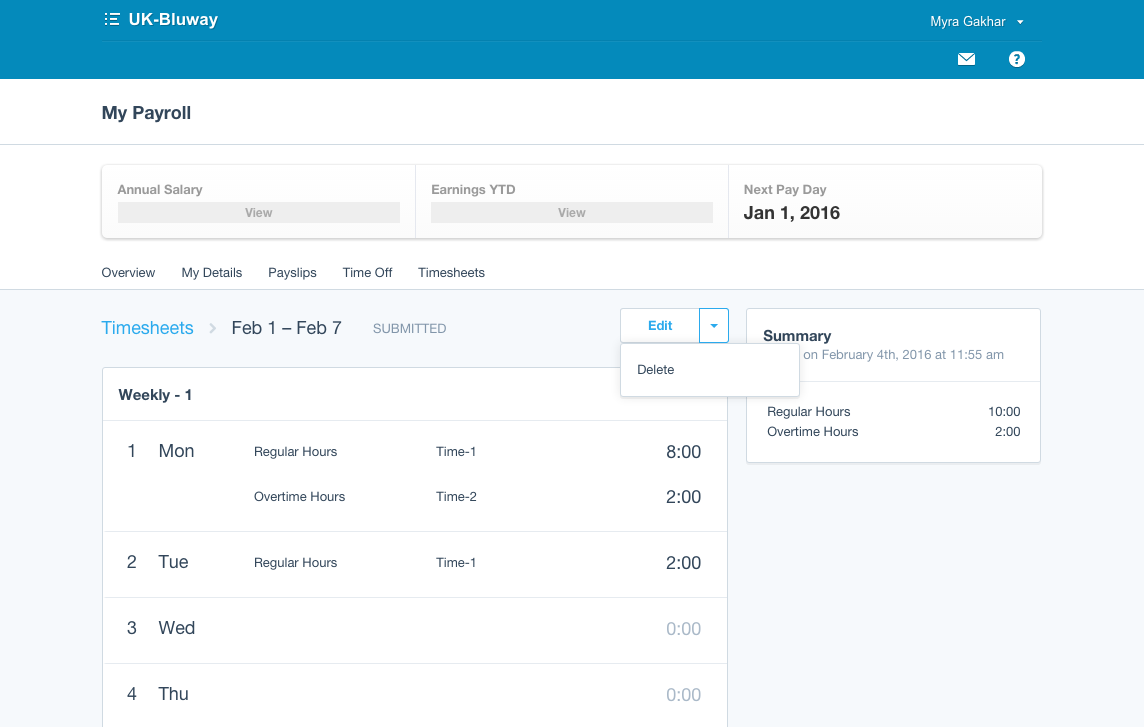 xero accounting payroll