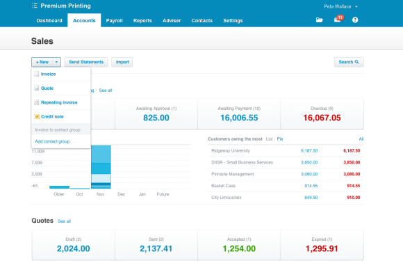 xero accounting quotes