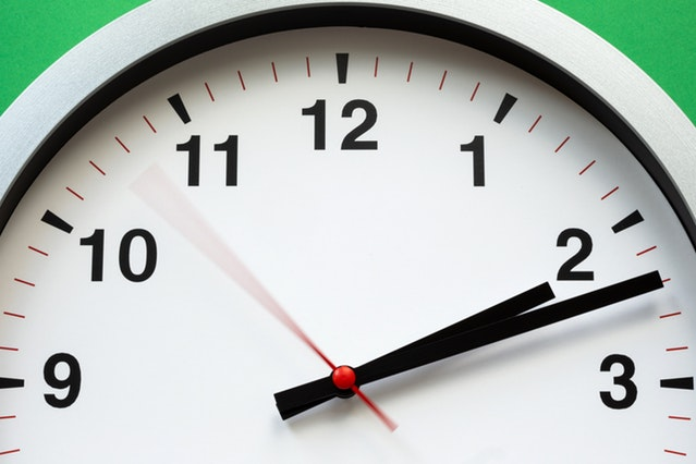 A clock ticking by