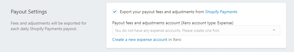 Create a new expense account