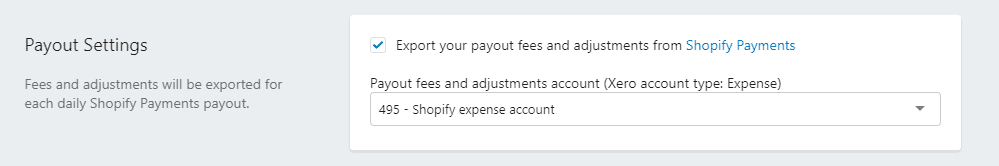 Payout setting