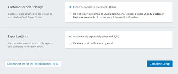 Export settings and the pricing plan